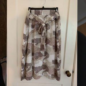 NWT Neutral, Pleated Midi Alligator Print Skirt
